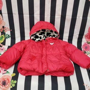 EUC Carter's 24mo pink heart coat